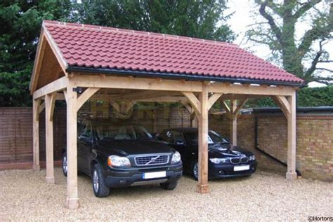 Post And Beam Double Bay Carport