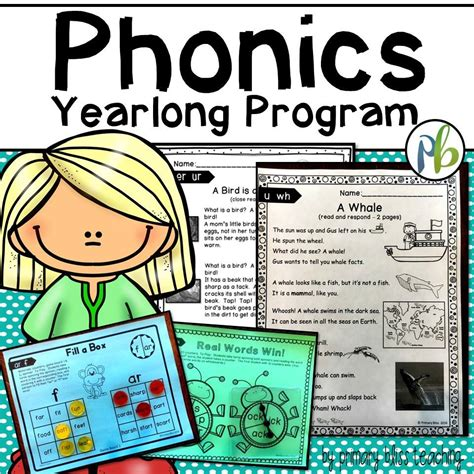 No Prep Yearlong Phonics Reading Program (first Grade)  Primary Bliss