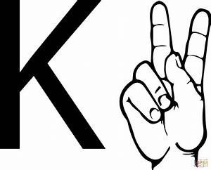 Asl sign language letter k coloring page free printable for Letter a sign