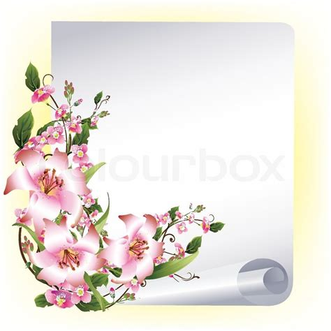 vector frame  beautiful flowers stock vector colourbox