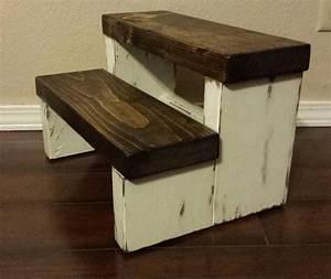 rustic stepstool wood stool farmhouse style step by