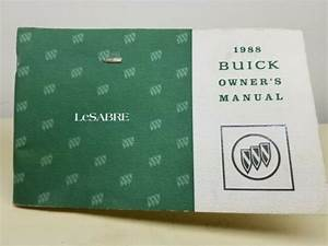 1988 Buick Lesabre Owners Manual User Guide
