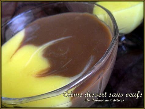 creme dessert sans oeufs recettes faciles recettes