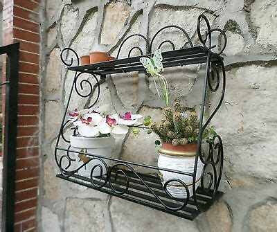 mensola portaspezie mensola fioriera portaspezie in ferro battuto shabby due