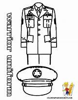 Coloring Police Army Uniform Officer Pages Hat Military Template Sketch Craft Policeman Soldier Clipart Soldiers Printable Hats Yescoloring Female Dress sketch template