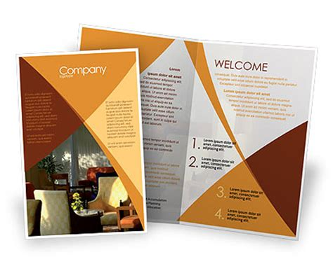trifold poster template free publisher 20 cool restaurant brochure templates