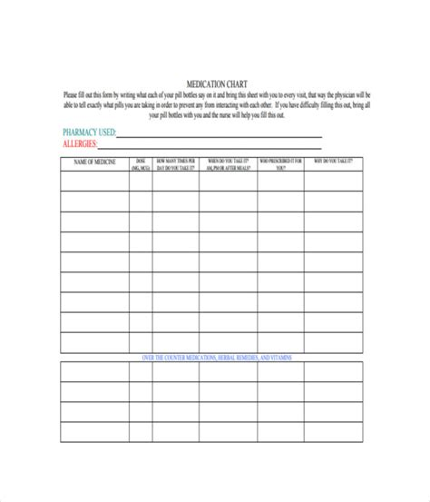 chart templates  word  documents