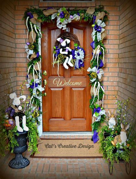 easter decorations to easter door cat 39 s home decor my door