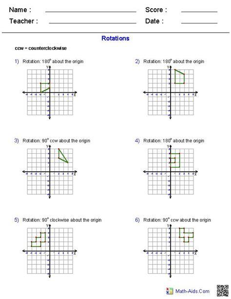 rotations worksheets math aids com pinterest worksheets