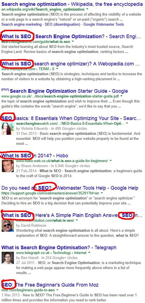 on page search engine optimization seo 2017
