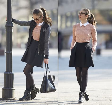 Olympia C - American Apparel Rose Sweater Mango Black Skirt Zign Cut Out Boots Cos Cute ...