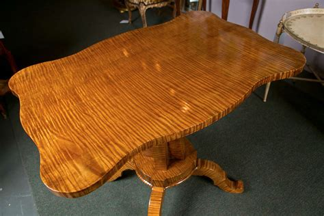 modern moroccan furniture tiger maple l table at 1stdibs