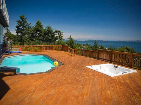 ground pool designs deck contemporary  aryze