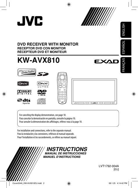 jvc kw avxeu avx eu instructions user manual