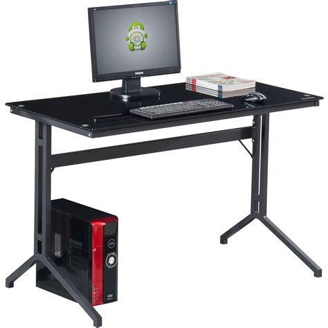 black glass computer desk black glass computer desk for home office compact stable