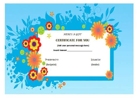 top  specialized manicure gift certificate templates