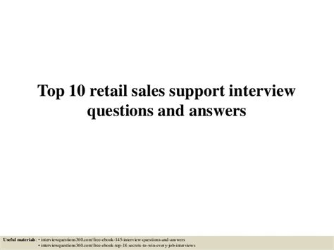 Retail Questions by Top 10 Retail Sales Support Questions And Answers