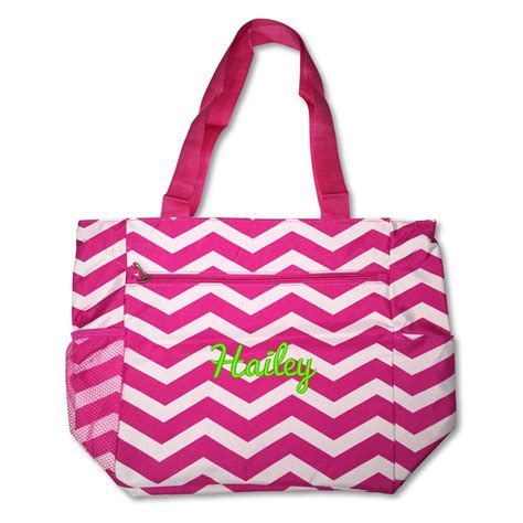 personalized monogram   large tote bag organizing