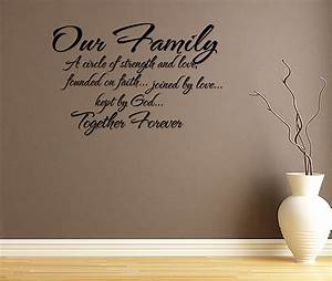 our family circle of strength and love wall decal quote With wall saying decals