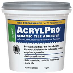 acrylpro 174 professional tile adhesive custom building