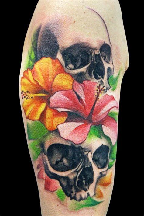 flowers  skull tattoo  maximo lutz design  tattoosdesign  tattoos