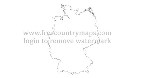 Germany outline map, blank map of germany #153029. Outline maps of Germany : Vector and gif map for YouTube