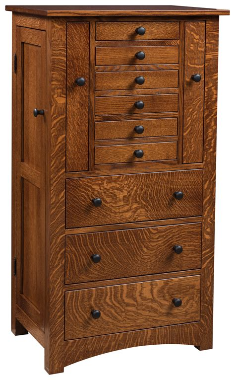 Mission Jewelry Armoire by Deluxe Flush Mission Jewelry Armoire Solid Wood