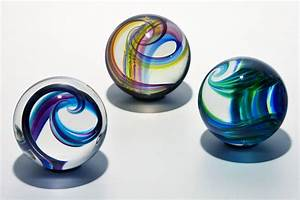 Oversized Glass Marbles by Michael Trimpol and Monique