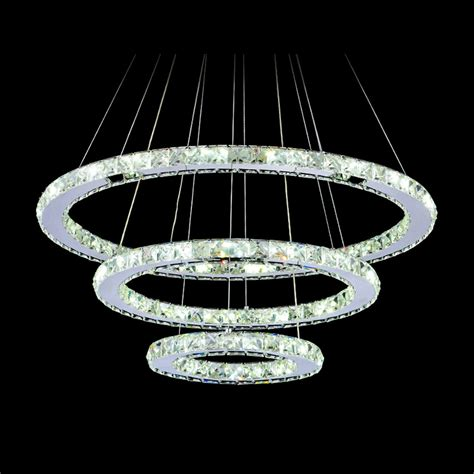 modern crystal light fixtures aliexpress com buy crystal ring led chandelier