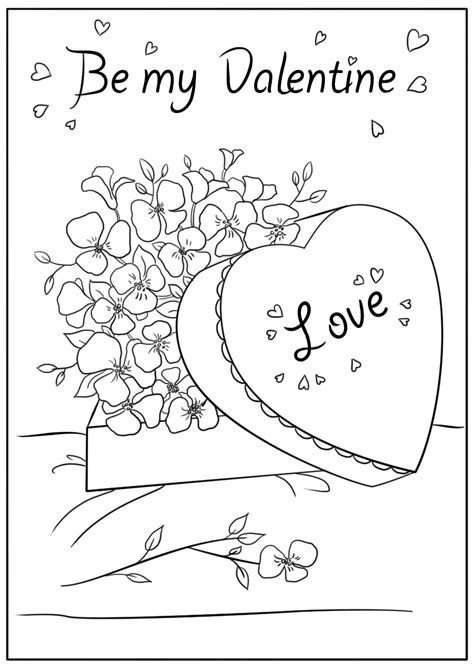 Coloring Cards by Printable Valentines Day Cards Best Coloring Pages For