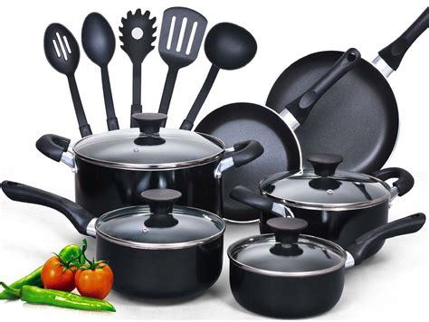 cookware pans sets cook piece pots cooking pot kitchen utensils nonstick kitchenware pan stick non kit chef types heat food