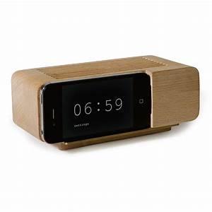 iPhone Wooden Alarm Clock - The Green Head