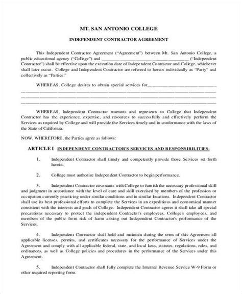1099 Independent Contractor Agreement Texas
