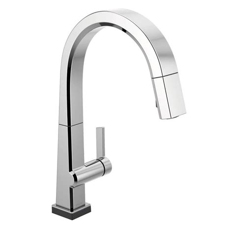 Touch2o Kitchen Faucet by Delta Pivotal Single Handle Pull Sprayer Kitchen