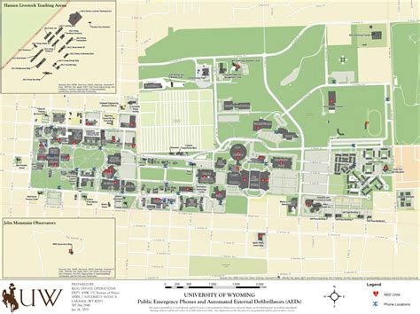 Campus Map University Of Wyoming Police Department