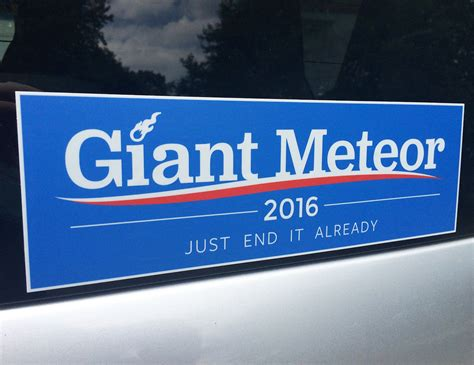 Giant Meteor 2016 Bumper Sticker - The Green Head