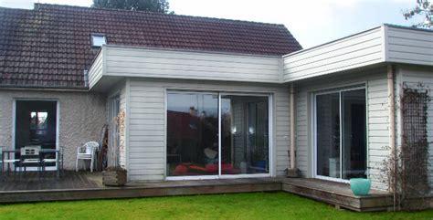 extension chambre extension à ossature bois d une maison individuelle dans