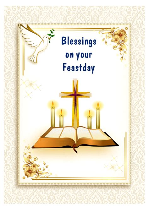 May god bless your birthday and may he always be by your side, being the pillar of protection with you and your loved ones. Feastday Archives   Religious Cards
