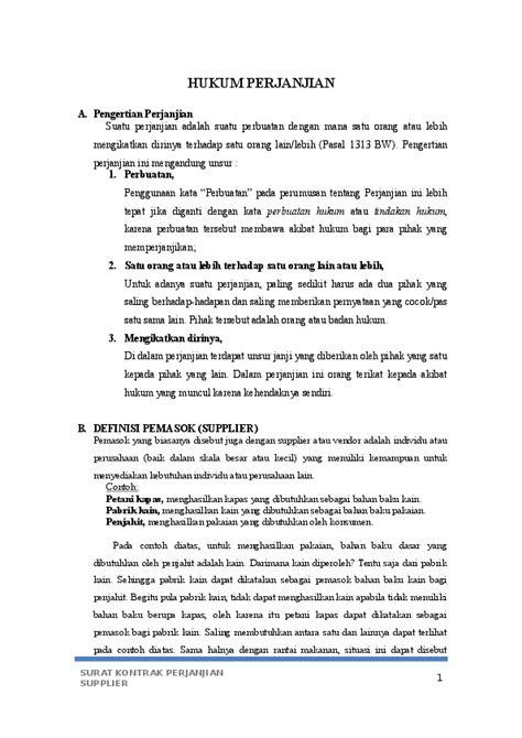 (DOC) Surat Perjanjian Supplier | Erika Kertistika - Academia.edu