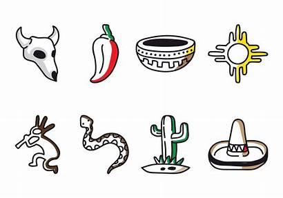Southwest Doodle Icon Vectors Vector Clipart Graphics