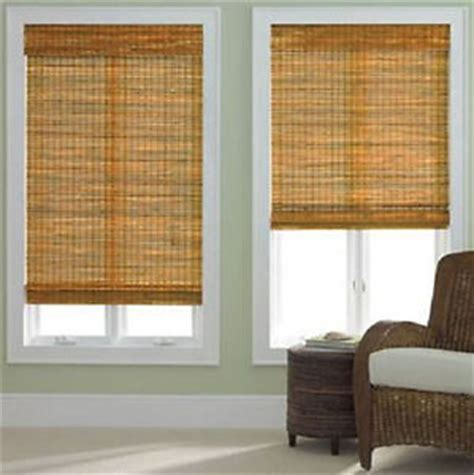 New Natural Bamboo Woven Wood Roman Shadeblind Window