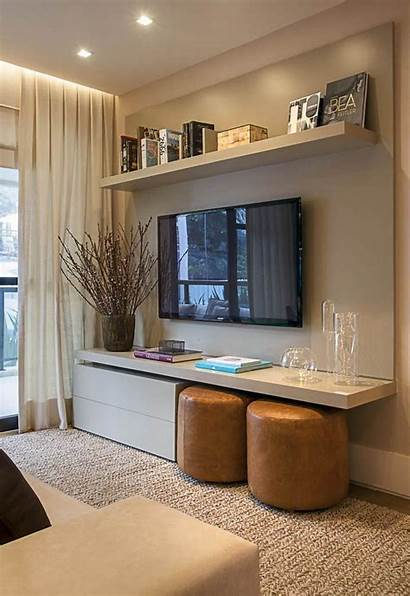 Living Decor Tv Extra Seating Space Under