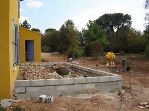 construction de la terrasse With maison en beton coule 5 fondations fondation maison etage les etapes de construction
