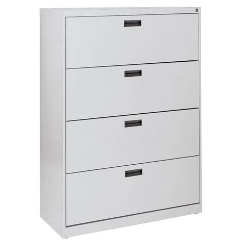 4 Drawer Vertical File Cabinet by Sandusky 400 Series 4 Drawer Dove Grey Lateral File