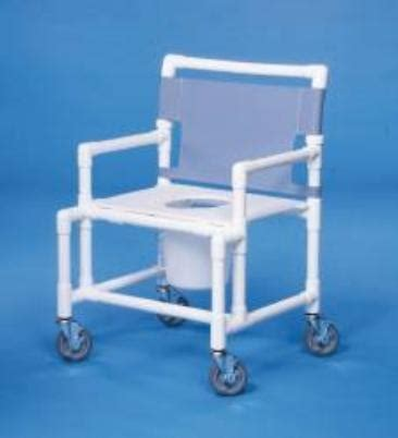 Pvc Commode Chair by Pvc Shower Commode Chair With Mesh Backrest By Mckesson