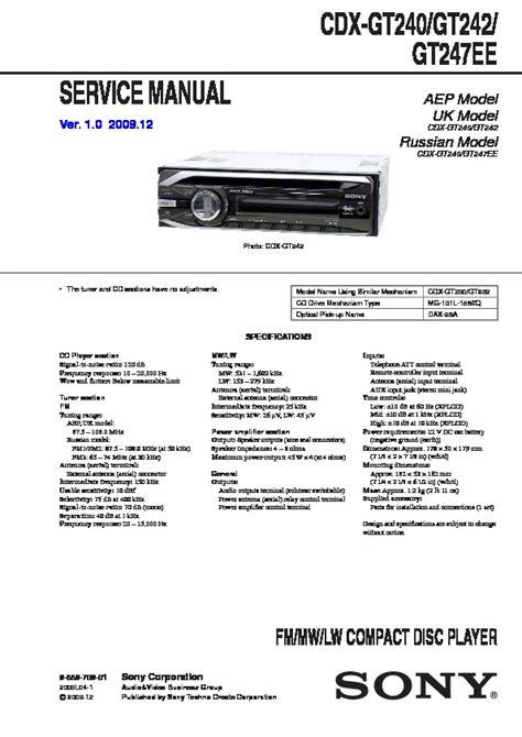 sony cdx gt290 wiring diagram somurich