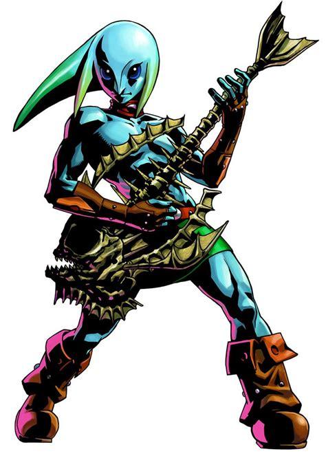 The Legend Of Zelda Majoras Mask 3d Zora Link And Guitar