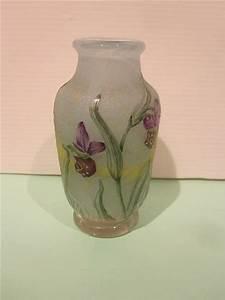 Petit Vase En Verre : daum petit vase en verre grave a l 39 acide a decor d 39 orchidee ~ Teatrodelosmanantiales.com Idées de Décoration
