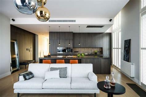 salon et cuisine moderne cuisine salon 40m2 cuisine en image