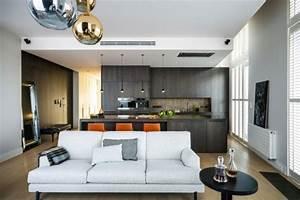 modele de cuisine ouverte sur sejour cuisine en image With attractive plan de maison moderne 10 deco salon et cuisine ouverte
